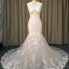 fsuzwel Fmogl Romantic Chapel Train Mermaid Wedding Dresses
