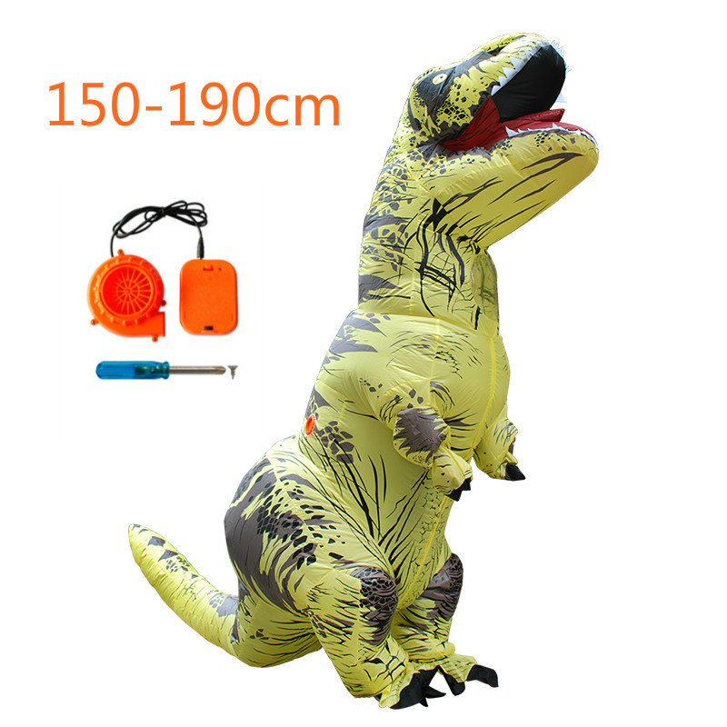 Inflatable Dinosaur Costumes Elk Unicorn Horse Toys Animal Costume for Kids Boys Adults Halloween Christmas Cosplay boys iron man cosplay halloween costume ironman super hero carnival kids boy cool muscle the avengers costumes birthday gift