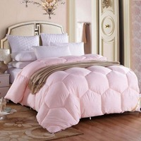 Chpermore 100% White Superfine fiber Duvets Winter Quilt High Quality Comforters Goose/Duck Down King Queen Twin Full