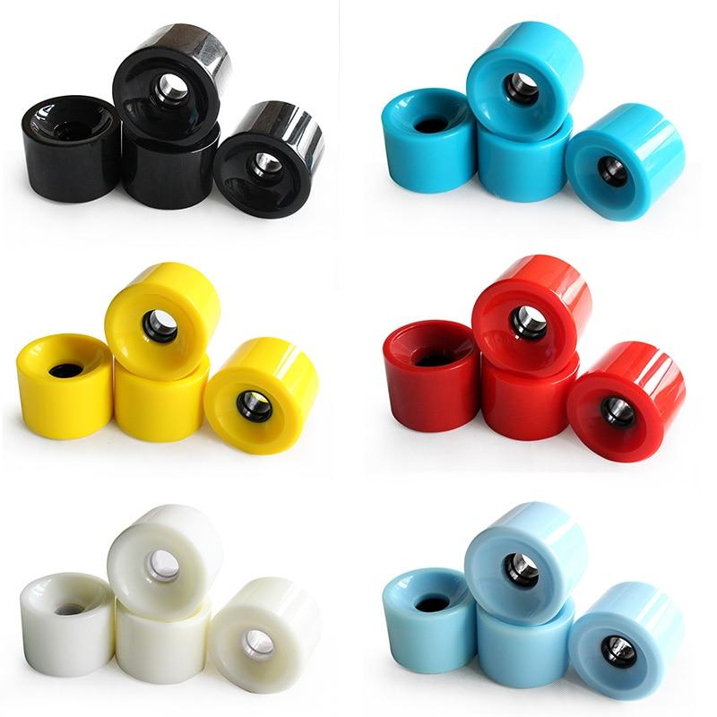 4pcs Wheel High Strength Longboard Skateboard Wheels 70mmx51mm Wheel For Long Board Skateboard Multicolor Wearproof