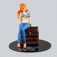 ALEN One Piece Figurka Nami Treasure Chest Ver. PVC Rysunek POP One Piece Nami Sexy Zabawki Brinquedo Onepiece Działania-Figury