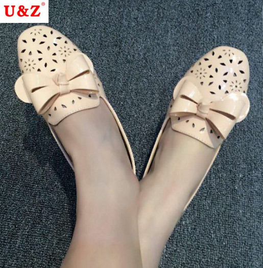Young ladies patent Leather casual Shoes Summer 2017,Breathable Women Flats flowers Hollow out Leisure shoes(Silver/pink/white)  nis women air mesh shoes pink black red blue white flat casual shoe breathable hollow out flats ladies soft light zapatillas