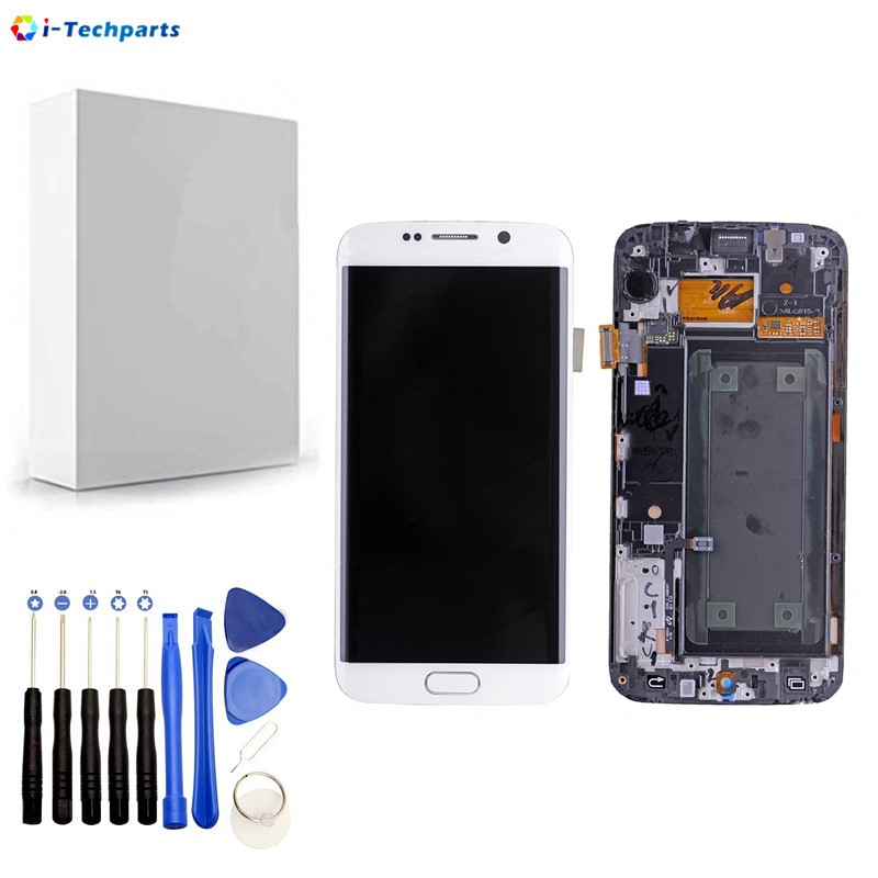Replacement Parts for Samsung Galaxy S6 Edge SM-G925 Display LCD Screen and Digitizer Assembly G925f G925i G925v G9250,WhiteReplacement Parts for Samsung Galaxy S6 Edge SM-G925 Display LCD Screen and Digitizer Assembly G925f G925i G925v G9250,White
