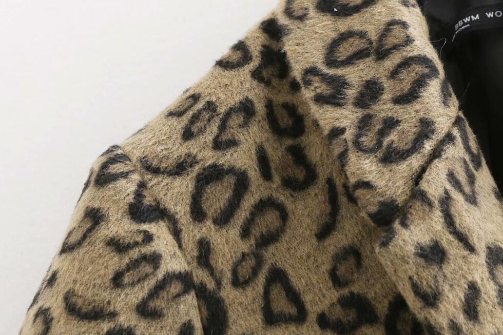 Mode Leopard Style Hiver Automne Nouveau Sexy Léopard Européen De Laine Chaud A1043 Manteaux Femmes Pardessus Luxe 2018 Manteau Femelle pqzURwIwn