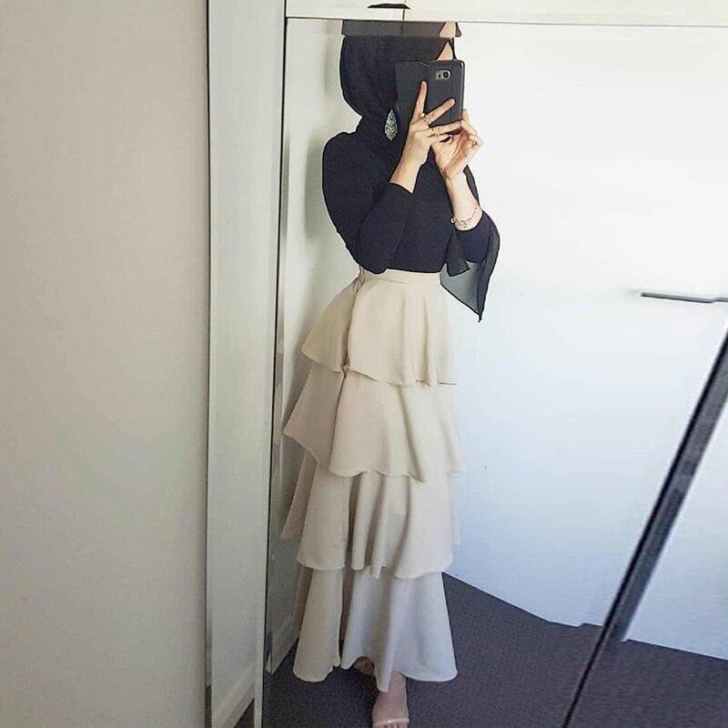 Abaya Femme Dubai Long Muslim Skirt Caftan Tutu Skirts Moslim Elbise Abayas For Women Qatar UAE Oman Turkish Islamic Clothing