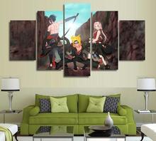 5 Panels Wall Art 5 Panels Wall Art Anime Naruto Uzumaki Sakura Haruno 5 Pieces Paintings