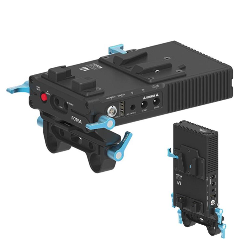 FOTGA DP500III DSLR V-Mount BP Battery Power Supply Plate For 7D 5DII 5DIII BMCC