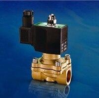 1 1/4 дюйма 2 Вт серии площадь катушки IP65 электромагнитный клапан латунный нормально закрытый