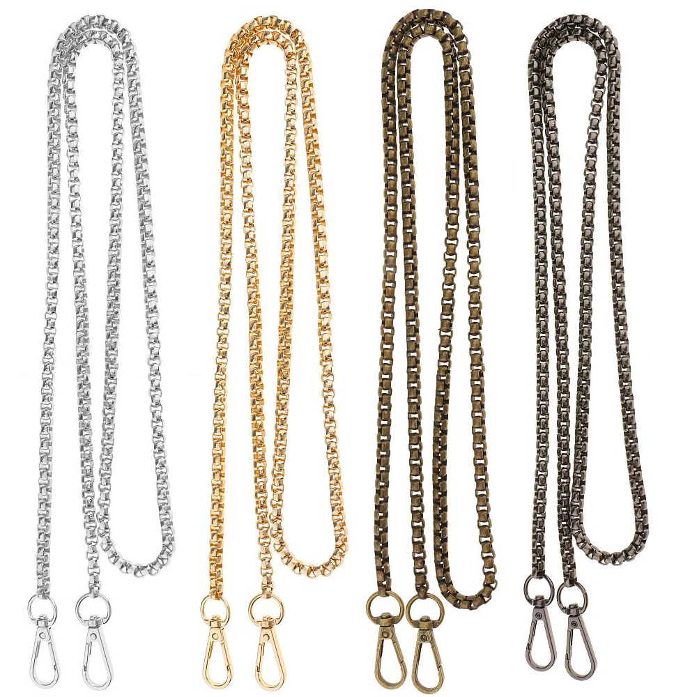 120cm Chain Straps For Bags Shoulder Handbag Chains DIY Belt Hardware For Handbags Strap Replacement Bag Accessories Parts GOLD in Bag Parts Accessories from Luggage Bags