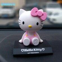 Бесплатная Доставка Милый Розовый Hello Kitty Украшения Автомобиля Декоративные Меблировки Статей Автомобильные Мультфильм Кукла Автомобильные Аксессуары
