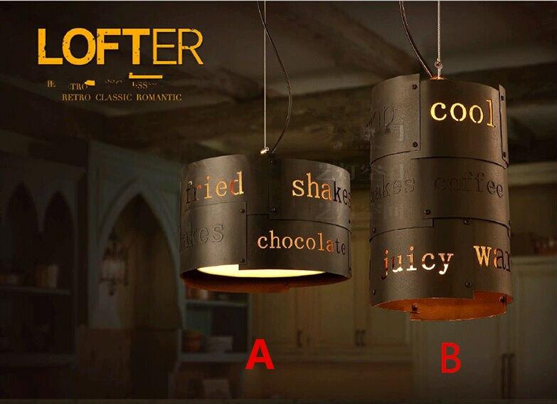 Loft Style Personality English Word Pendant Light Coffee Shop Light Restaurant Light Dining Room Light Free Shipping
