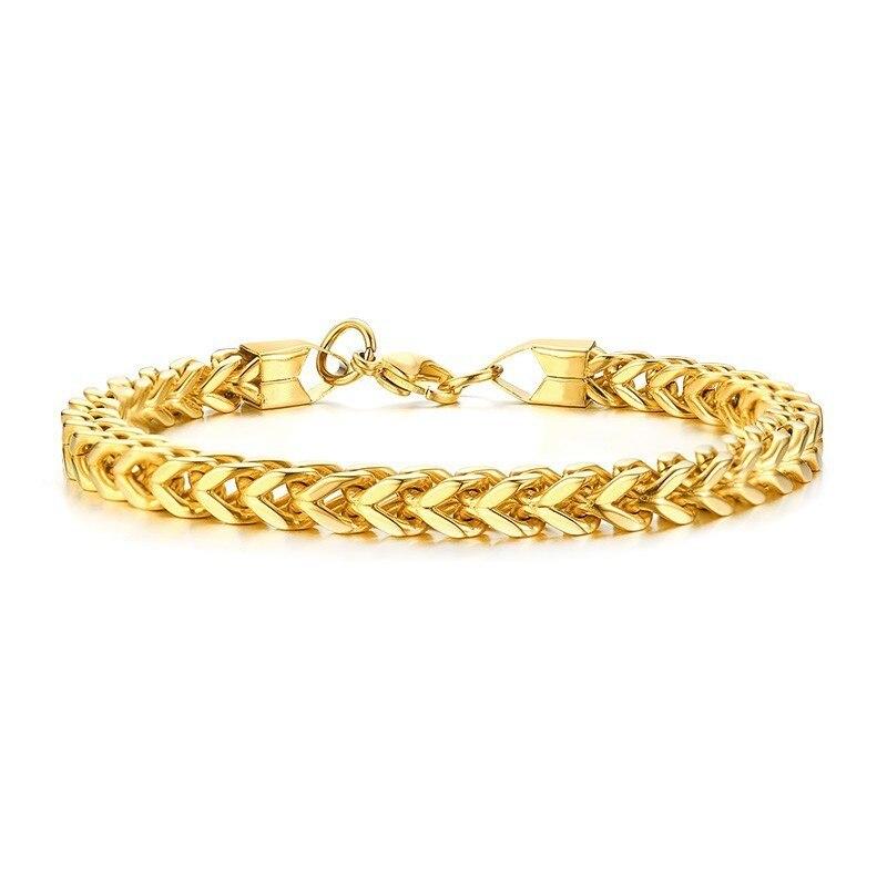 fe9a3f6ae4fbe Silver Mens Chain Bracelet Cuff Bangle Stainless Steel Vegan Homme  Boyfriend Guys Husband Gift