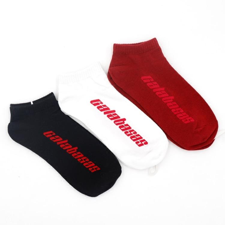 INS super fire street letters calabasas casual socks High Street Coconut Short Tube Men and Women Lovers Socks