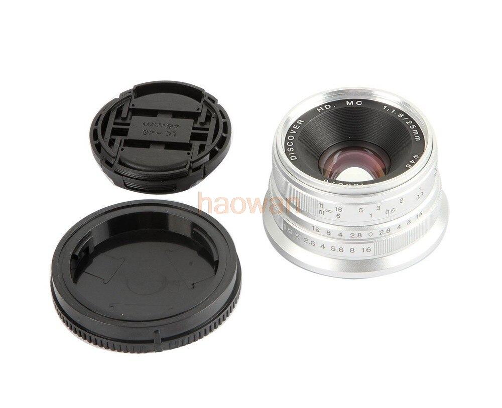 25mm F1.8 F/1.8 Handmatige Focus Groothoek Movie Lens voor sony e NEX 3/c3/5 /5n/5r/5 t/6/7 A6500/a5100 A6000 A7 A7R A7S A7RII camera-in Camera Lenzen van Consumentenelektronica op  Groep 1