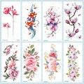Татуировка Rocooart с цветами, руками, красочная татуировка, боди-арт, водостойкие Временные татуировки, наклейки, роза, искусственная татуиров...