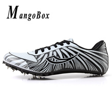 Unisex Spikes Shoes for Running Lace-Up Track and Field Sports Boy Health High Jump Mesh Light Ladies Feiyue