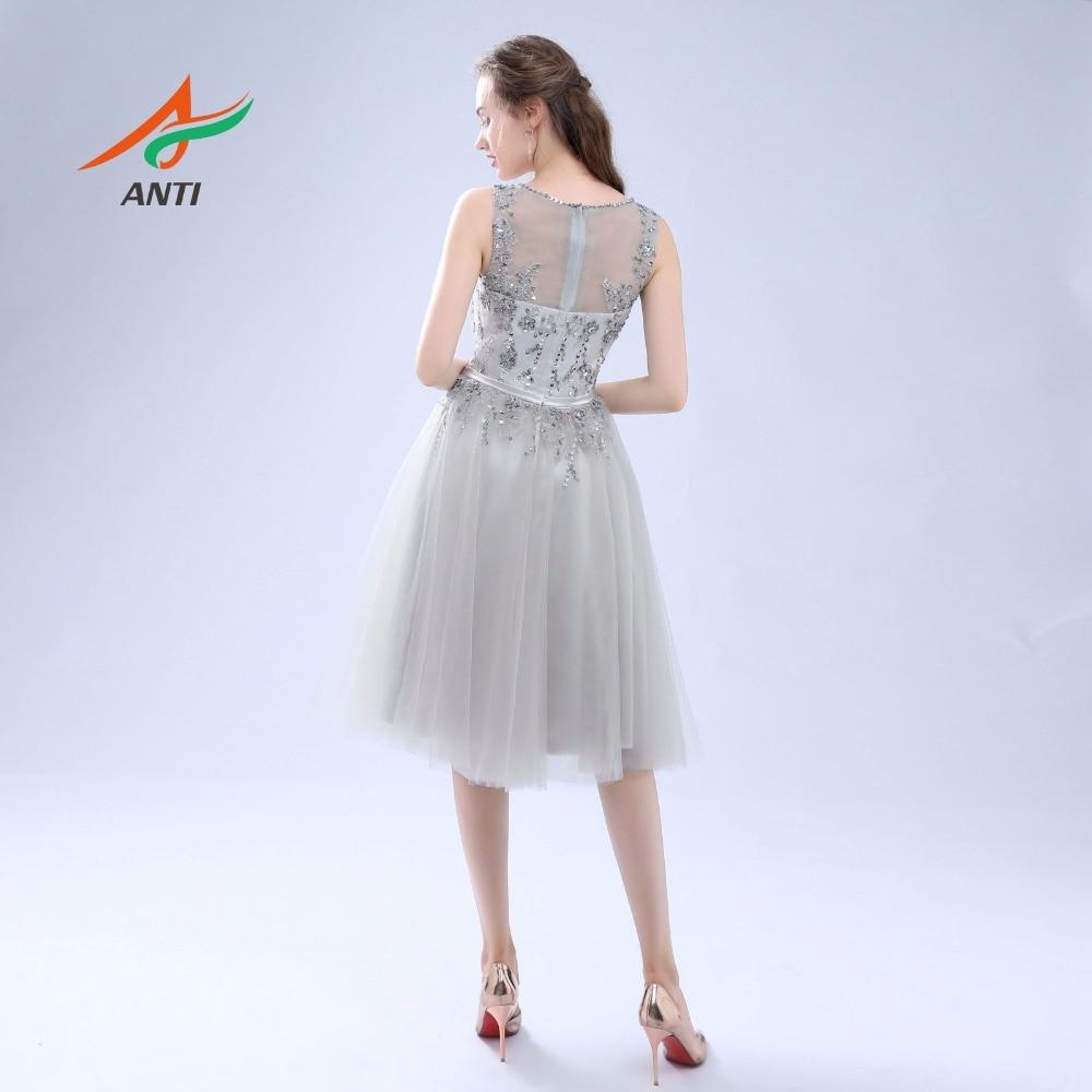 ANTI Luxe 2017 Robe De Cocktail Jurken Mouwloze Tulle Voor Bruiloft - Jurken voor bijzondere gelegenheden - Foto 2