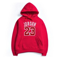 23 Fleece Brand New Fashion JORDAN 23 Men Sportswear Print Men Hoodies Pullover Hip Hop Mens