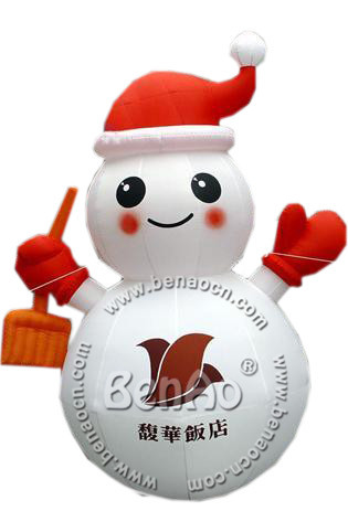 X062 4m hight Small Outdoor Inflatable Christmas Snowman