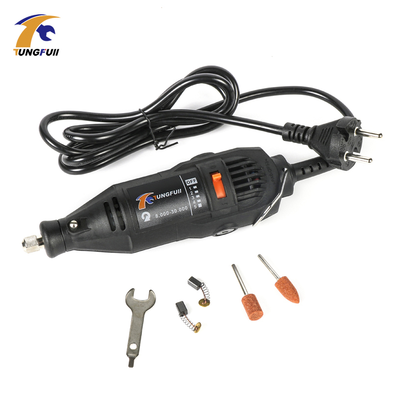 Tungfull Electric Power Tools Mini Drill Dremel Rotary Tools Accessories Drill Bits Cutting Discs Sanding Paper