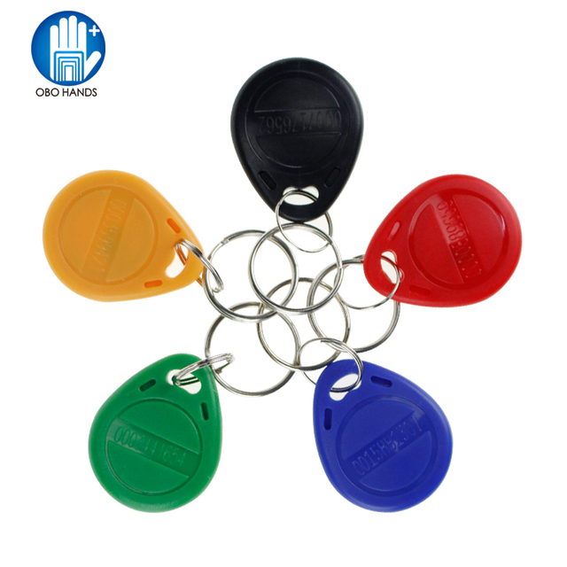 (pack of 10) 125KHz RFID Keyfobs Access Control Card keychains for Door Electric lock system nfc token tag blue/red/black/yellow