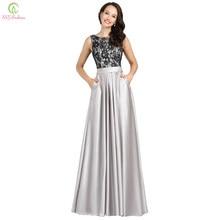 c54f6baf2e Szata De Soiree SSYFashion suknie wieczorowe bankiet dla nowożeńców szary  koronki Satin Sexy długa suknia balowa Plus rozmiar od.