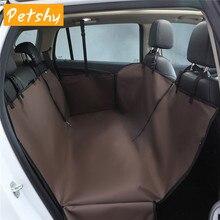 Petshy Pet Car Seat Cover Portable Foldable Waterproof Anti slip Rear Back Mat Hammock For Small Medium Large Dog Cat