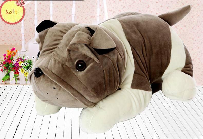 Cute plush toy dog pillow doll large simulation bulldog birthday girl 30CM