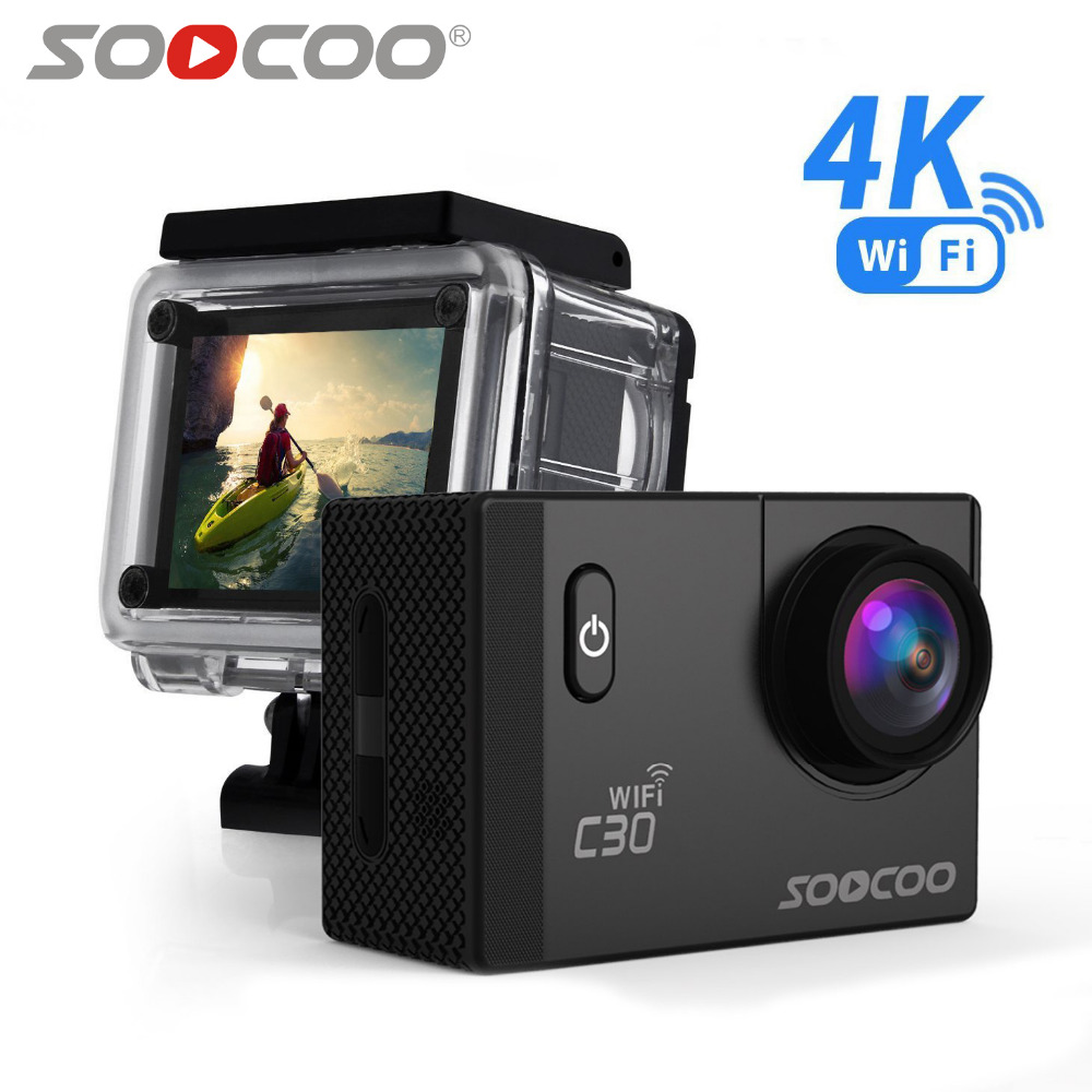 SOOCOO C30 Action 4K Sports Camera Wifi Built in Gyro Adjustable Viewing angles 70 170 Degrees