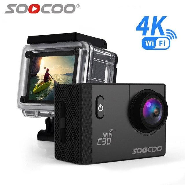SOOCOO C30 acción 4 K cámara de deportes Wifi incorporado Gyro ajustable ángulos de visión (70-170 grados) 2,0 LCD NTK96660 30 m resistente al agua
