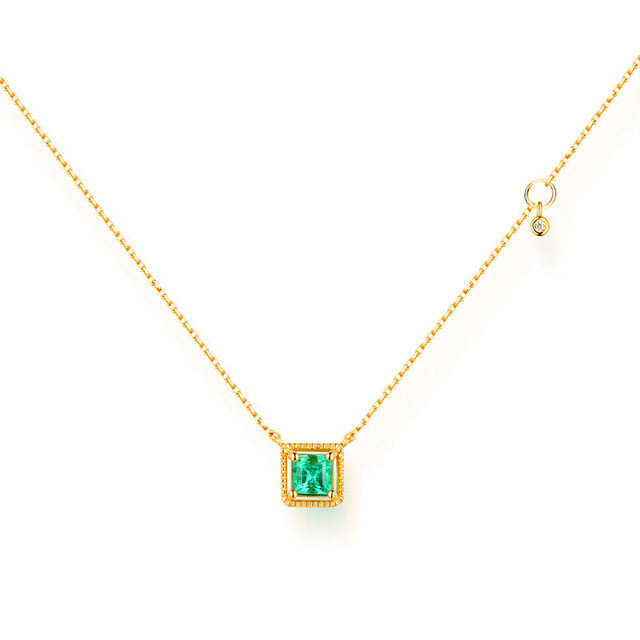 Ani 14k yellow gold pendant necklace 35mm natural emerald color ani 14k yellow gold pendant necklace 35mm natural emerald color gemstone fine jewelry fashion women aloadofball Image collections