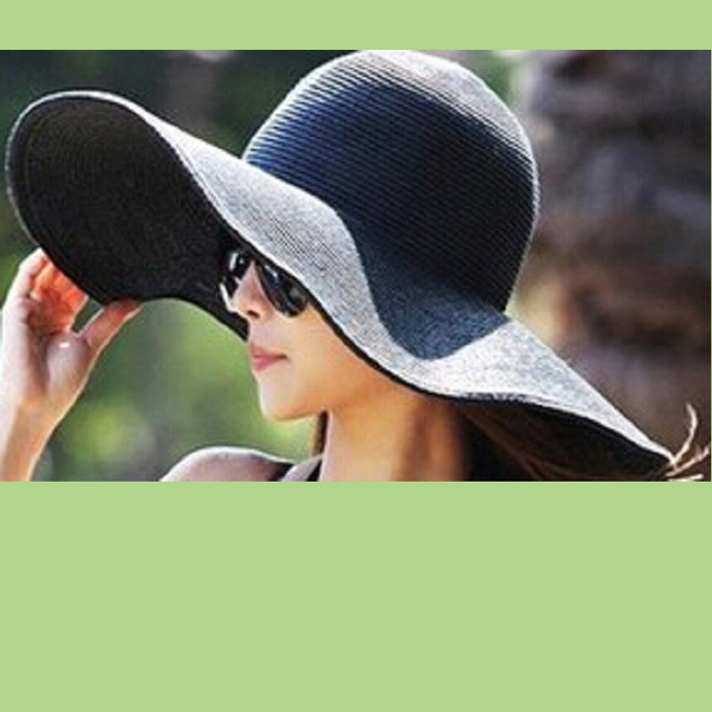Wholesale Vintage Solid Color Women Ladies Floppy Straw Hats Wide Brim  Casual Summer Sun Hats DOM103127 7dd8f721199