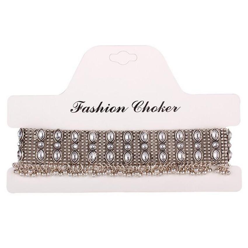 silver necklace choker (1)