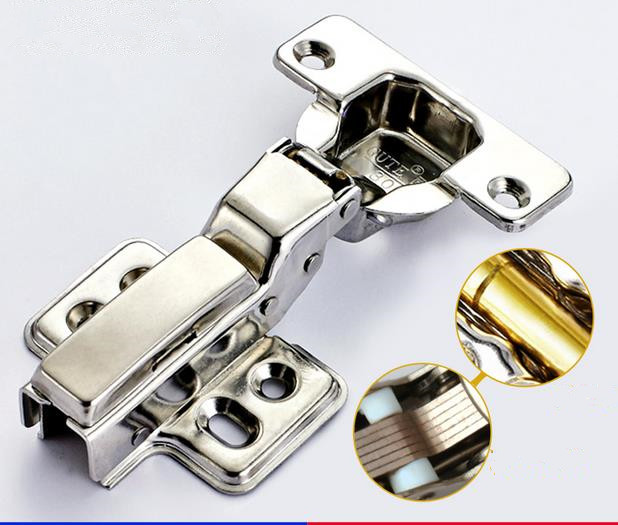 high quality no cover 301 stainless steel Fixed installation Hydraulic d&ing Cupboard door hinges 6PCS/