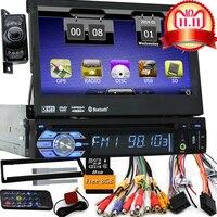 7 Универсальный 1 Din Car Audio DVD плеер + радио + gps навигации + Авторадио + стерео + Bluetooth + PC + DVD автомобильной + SD USB RDS Aux + камера
