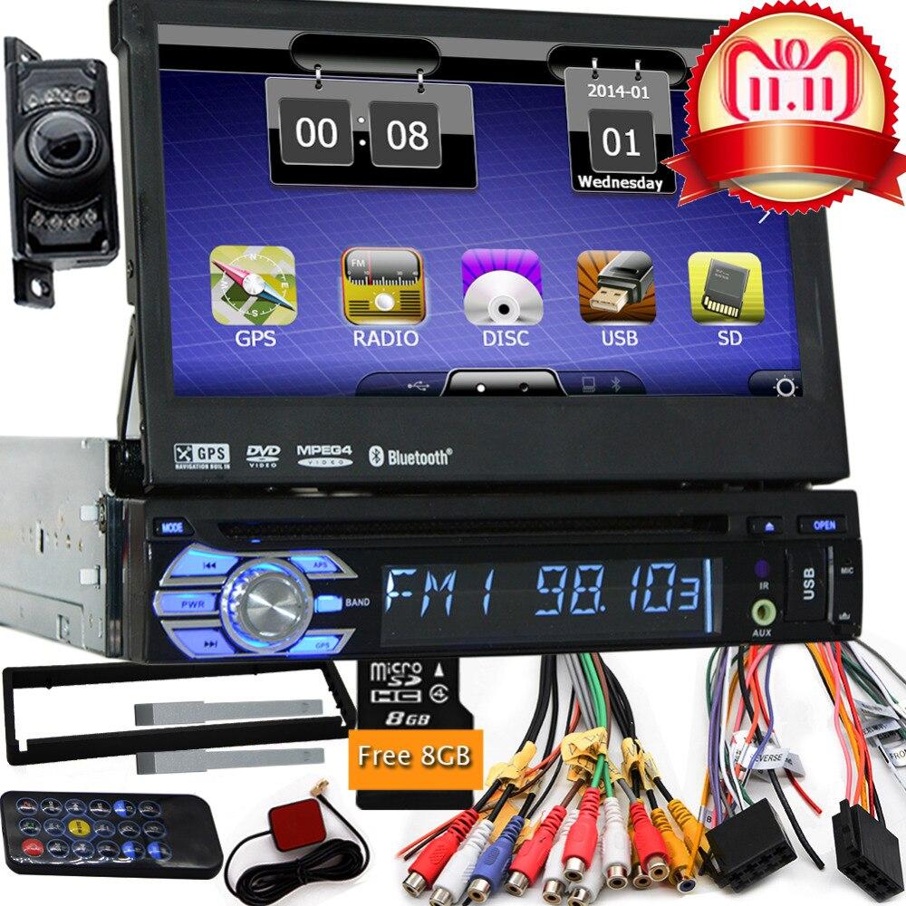 Double Din Miroir Link D-Play 7 pouces HD Touchsreen Lecteur Multim/édia de Voiture Bluetooth avec Cam/éra de Recul T/él/écommande sans fil Commande au Volant Appel Mains Libres Podofo Autoradio 12 V