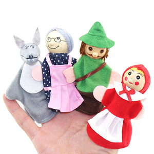 Горячая распродажа красная шапочка и волк сказка играть в игру пальчиковые игрушки комплект игрушки на пальцы