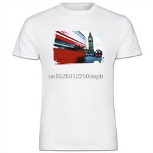 Newest 2019 Men Fashion Red London Double Decker Bus In Big Ben Mens Cotton T-Shirt Hot Tee Shirt(China)
