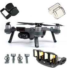 DJI Spark Accessories Set Bundle Combo Lens Cap Hood Sun Shade Camera Cover Protector Landing Gear Antenna Range Booster цена