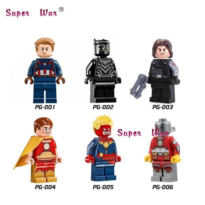 20pcs star wars superhero marvel Captain America Black Panther Winter Soldier Deathshot DC building blocks figure model toys