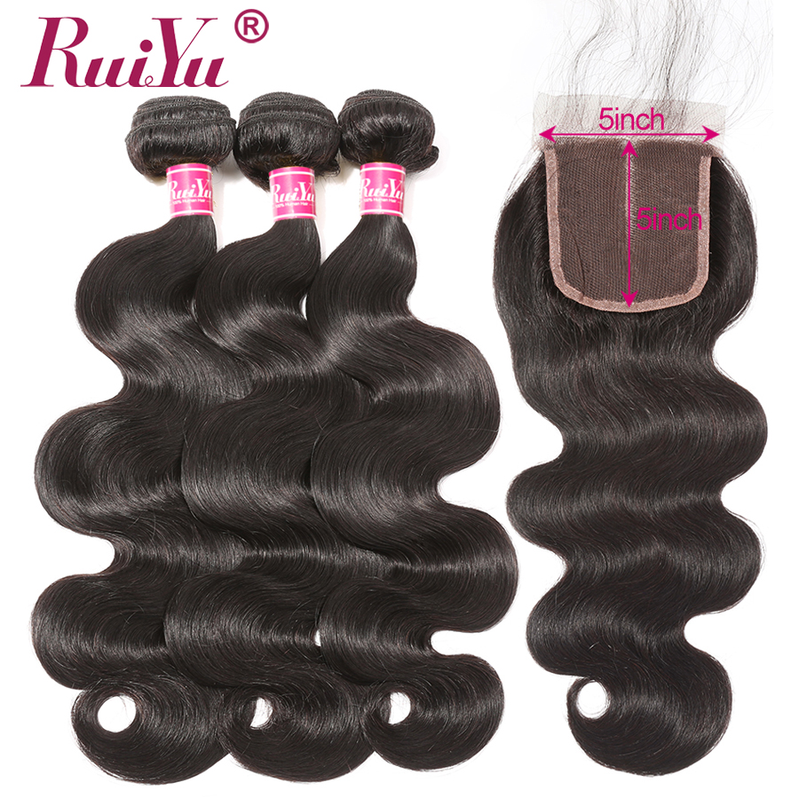 Brazilian Body Wave Bundles With Closure 5 5 Lace Closure With Bundles Non Remy Human Hair