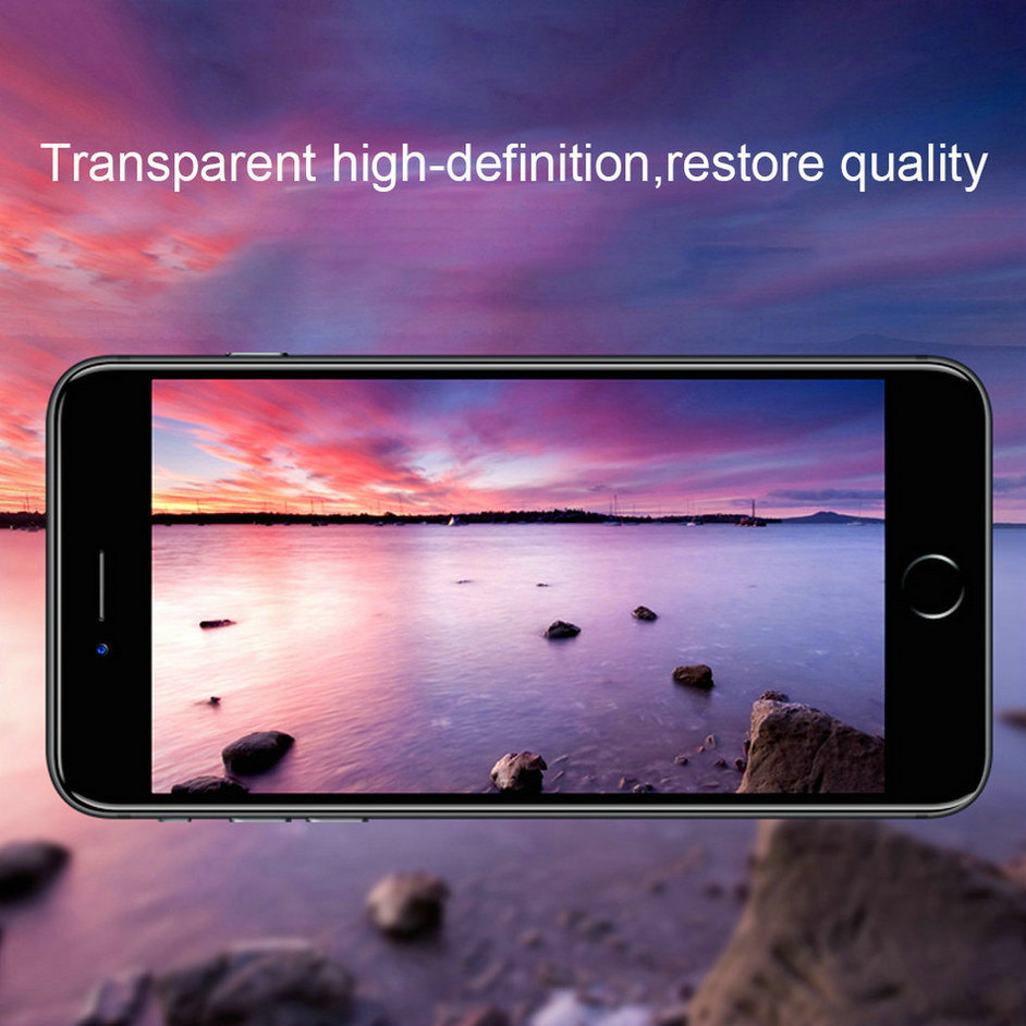 6D Glass On The For iPhone 6 6 s Plus Tempered Glass Full Cover 5D Round Edge Case For iPhone X 7 8 6 Plus 10 Screen Protector  (10)