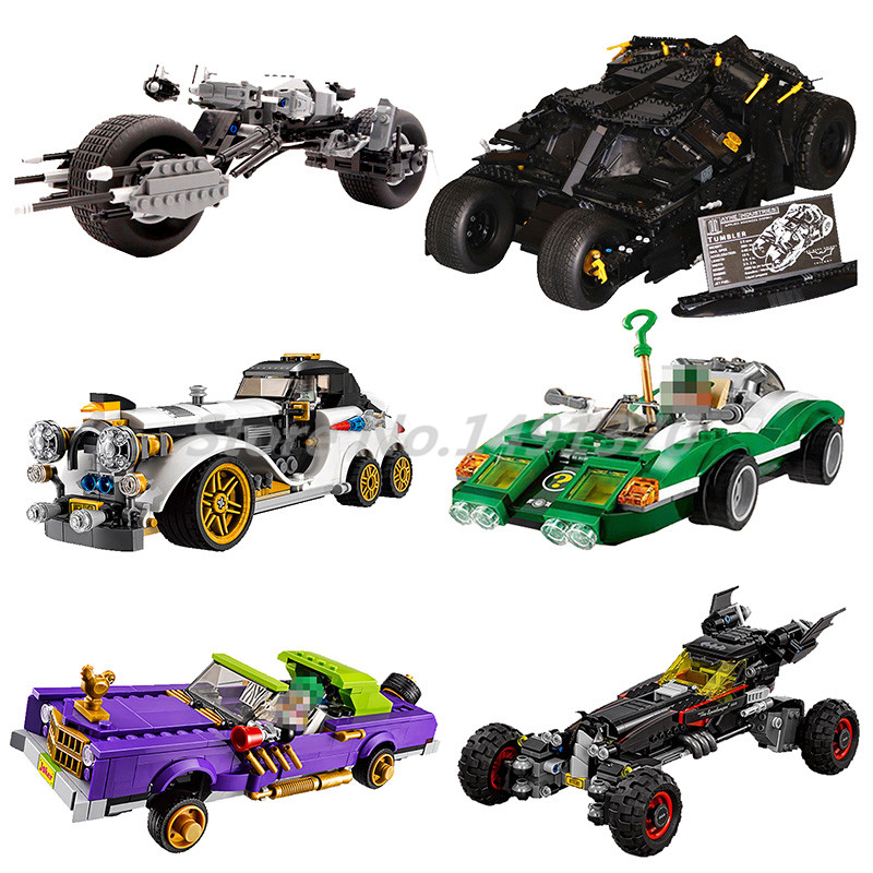 DC Super Heroes Compatible with Legoedly Batman Movie Series Building Blocks Joker Notorious Car Motorcycle Toys For Children single sale super heroes transparent predator the movie series one eyed alien building blocks for children gift toys kf812
