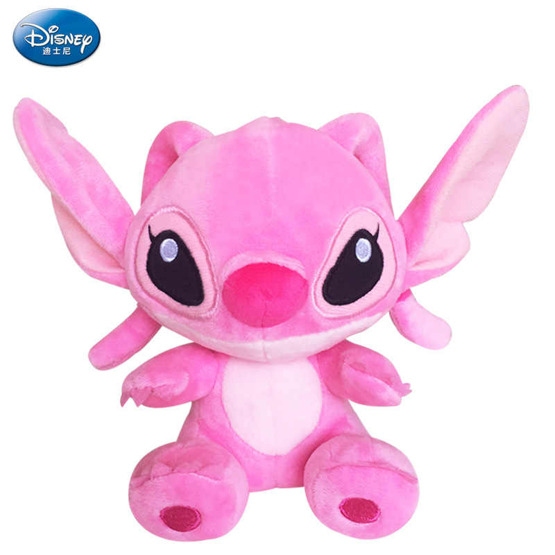 Disney Kawaii Плюшевые игрушки, Стич тематика «Лило и Стич» Плюшевые игрушки Scrump мягкие куклы животных детские игрушки Рождественский подарок на день рождения