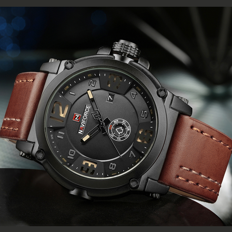 NAVIFORCE Top Brand Watch Analog Quart Army Military Design 1