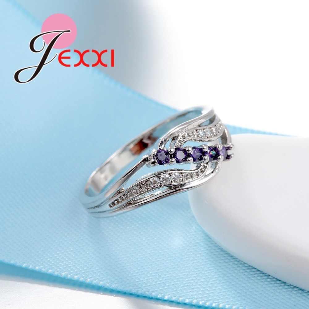 Nouveauté AAA Micro zircon cubique bagues en argent Sterling 925 bijoux pour femmes filles bijoux de mariage Bague femme