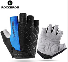 ROCKBROS Cycling Bike Half Finger Gloves Shockproof Breathable MTB Mountain Bicycle Gloves Men Women Sports Cycling Clothings rockbros cycling bike half finger gloves shockproof breathable mtb mountain bicycle gloves men women sports cycling clothings