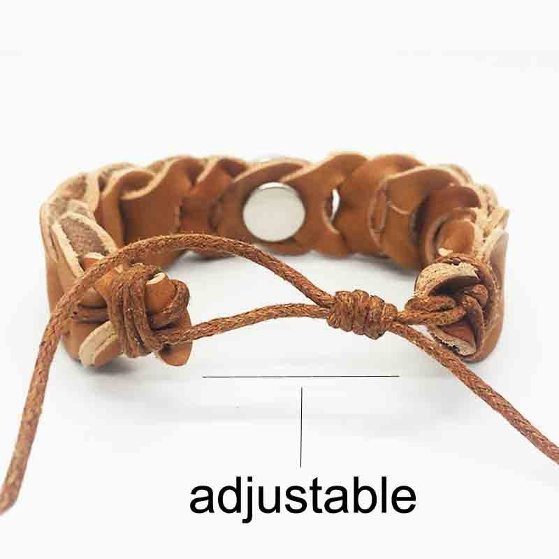 Interchangeable 149 hand woven Real Genuine Leather Retro fashion Bracelet 18mm Snap Button Jewelry Charm Jewelry For Wome in Charm Bracelets from Jewelry Accessories