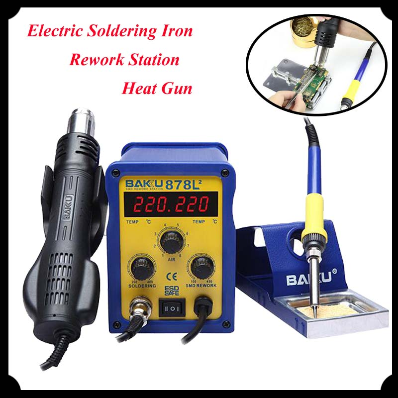 1pc led digital display smd brushless hot air rework station electric soldering iron and heat. Black Bedroom Furniture Sets. Home Design Ideas