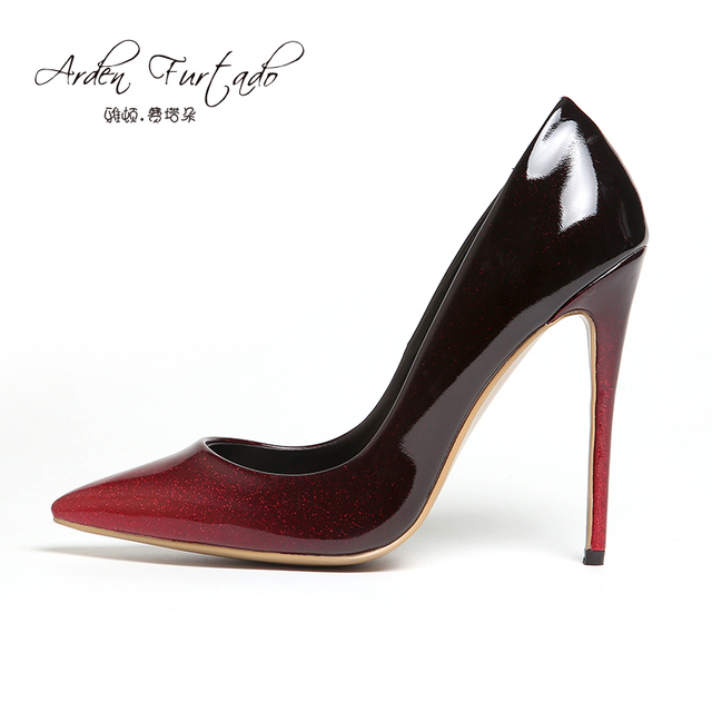 Frau Marke schuhe 12 cm high heels Pumps kleid hochzeit Schuhe rot ...